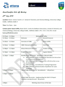 Kick-off meeting agenda